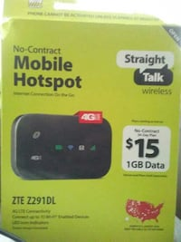 ed5c4504a Used No-Contact Mobile Hotspot ZTE Z291DL box for sale in ...