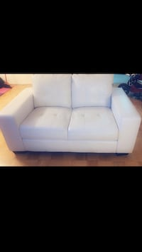 Selling for $1200. perfect condition. 2 All white leather sofas.  Toronto, M1R 3V4