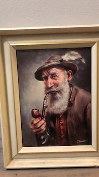 Brown wooden framed painting of man Richmond Hill, L4C 9Y9