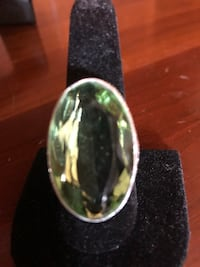 Large peridot in Sterling Silver