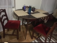 rectangular brown wooden table with four chairs dining set Toronto, M3A 3M3