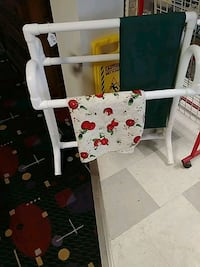 white and red wooden chair Ashland, 44805