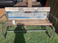 FORD Tailgate Porch or YARD Bench handcrafted New Orleans, 70118
