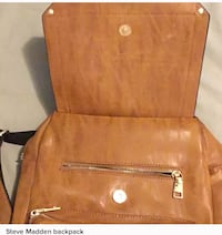 "Cute brown faux leather backpack ""steve Madden"" Los Angeles, 90034"