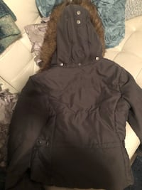 Grey Roxy Jacket with Hood