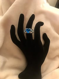 Blue Sapphire Crystal Ring Alexandria, 22304