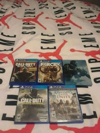 four assorted PS4 game's gently used  Hamilton, L9C 4B2