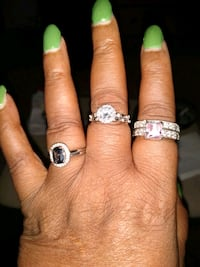 Sterling silver rings with all double bands Alexandria, 22304