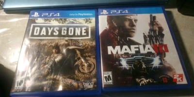 Ps4 games like new 30 each or 50 both.