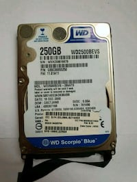 250 Gb wd hard disk