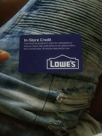 Lowes gift card 72$ on card Fort Myers, 33916