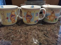 Winnie the Pooh - cups and bowl Richmond Hill