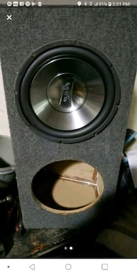 """(1) 12"""" Infiniti woofer 1200 RMS in an divided enclosed box Providence, 02906"""