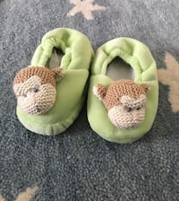 Maison Chic Mike the Monkey Slippers (6-12mos) 13 mi