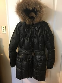 black and brown parka jacket Toronto, M5M 2K7