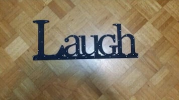 Laugh Wall Decor Word - NEW