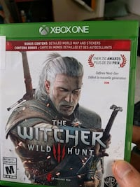 Xbox One The Witcher Wild Hunt game case