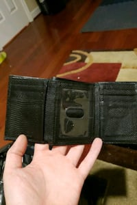black leather tri-fold wallet Frederick, 21703