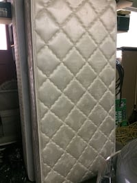 quilted white and gray floral mattress Kitchener, N2A 2K2