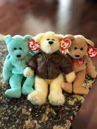 Collection of three TY bears, two are Beanie Babies West Lincoln, L0R
