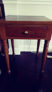 Wooden Table With Drawer: Great Refinishing Candidate! Alexandria