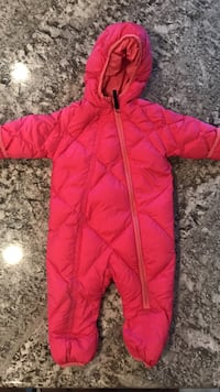 red zip-up bubble jacket Palmer, 99645