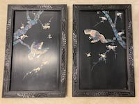 Pair of Japanese Lacquer Mother of Pearl Panels McLean, 22101