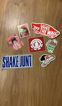7 high quality vinyl stickers