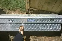 black and gray Kobalt truck saddle box