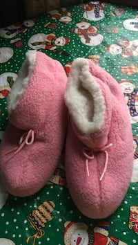 pair of pink UGG boots