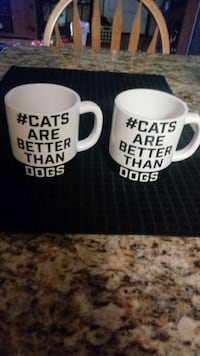 CATLOVERS,,,,,Set of 2 DOGHAUS  Coffee mugs, New.