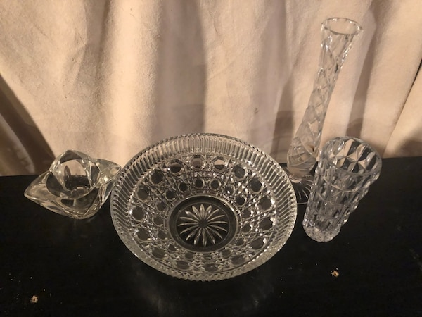Wayne Iinde Ikinci El Satlk 4 Pieces Of Antique Crystal In Great