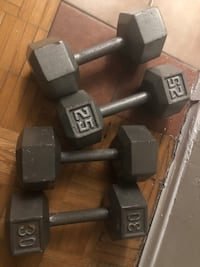 black and gray fixed weight dumbbells Oshawa, L1G 1L6
