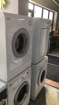 white front-load clothes washer and dryer set Toronto, M6H 2C5
