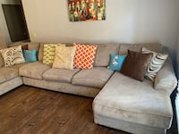 Comfortable sectional. Pillows included!
