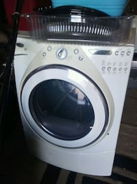 white and gray front-load clothes washer San Antonio, 78261