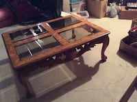 Glass and wood coffee table Ancaster, L9K 1H7