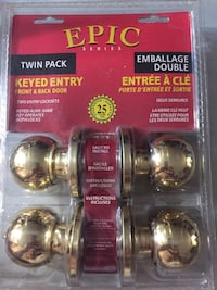 Epic Twin Pack keyed entry - two entry locksets (brand nee in original package) London, N6C