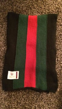 Black, green, and red Gucci scarf