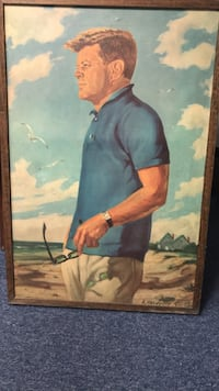 Framed painting of john f. kennedy Winthrop