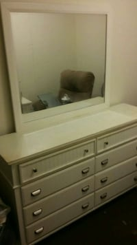 Used Bobs furniture dresser & 1 matching nightstand for sale in Bronx -  letgo