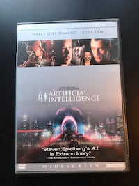 """Artificial Intelligence"" 2-disc Special Edition - DVD Movie Leesburg, 20175"