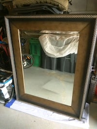 brown wooden framed wall mirror Mississauga, L5B 4H4