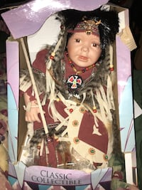CLASSIC COLLECTIBLE NATIVE AMERICAN PORCELAIN DOLL Dallas, 75247