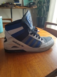 Adidas high tops- blue and white Calgary