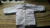 Baby spring, winter, and autumn jackets.  Windsor, N9C 2Y8