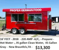 red and white RV trailer New Braunfels, 78130