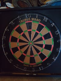 Dart Board with cabinet null