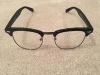 black framed eyeglasses with black lens TORONTO