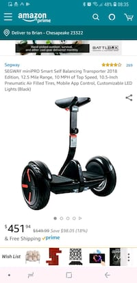Brand new segway minipro Chesapeake, 23322